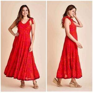 Free People Kika's Printed Midi Dress Size small